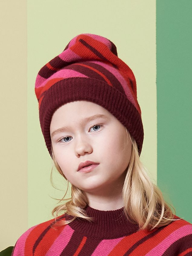 Marni STRIPED WOOL CAP Woman - 2