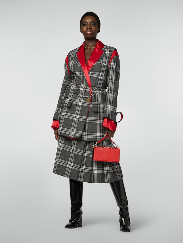 Marni Masculine jacket in chequered motif, yarn-dyed wool Woman - 1