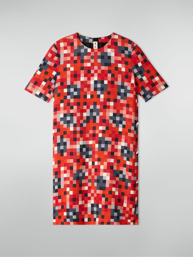 Marni Side buttoning tunic in cady Steel Magnolias print Woman - 2
