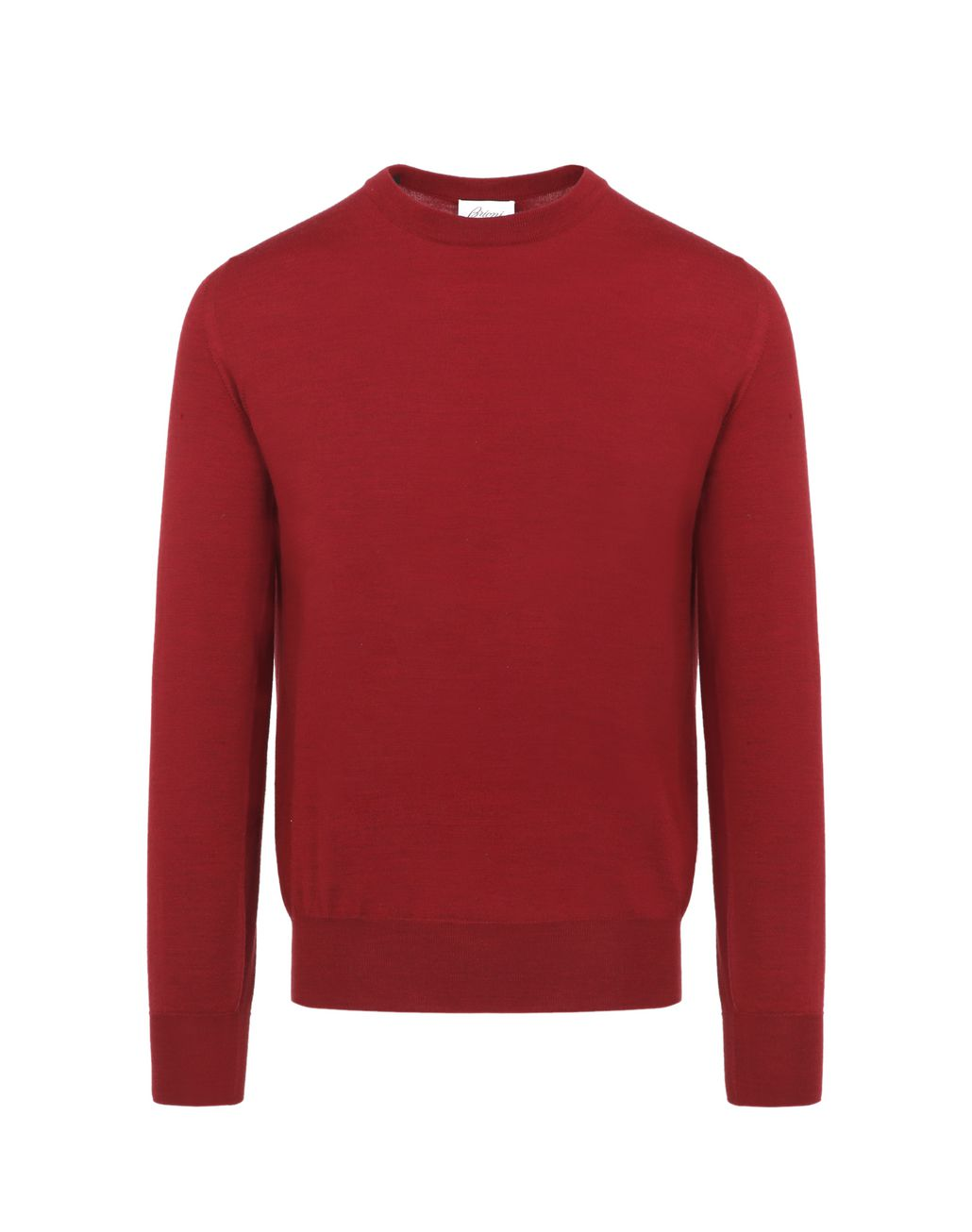 BRIONI Red Crewneck Sweater Knitwear Man f