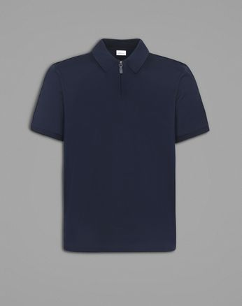 Blue Polo T-Shirt.