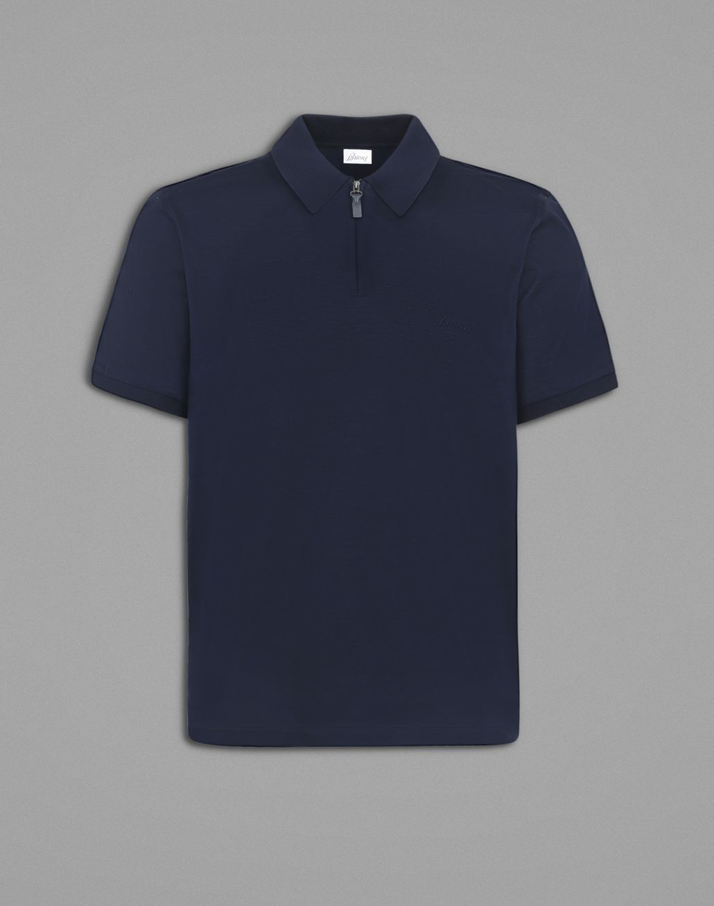 BRIONI Blue Polo T-Shirt. T-Shirts & Polos Man f