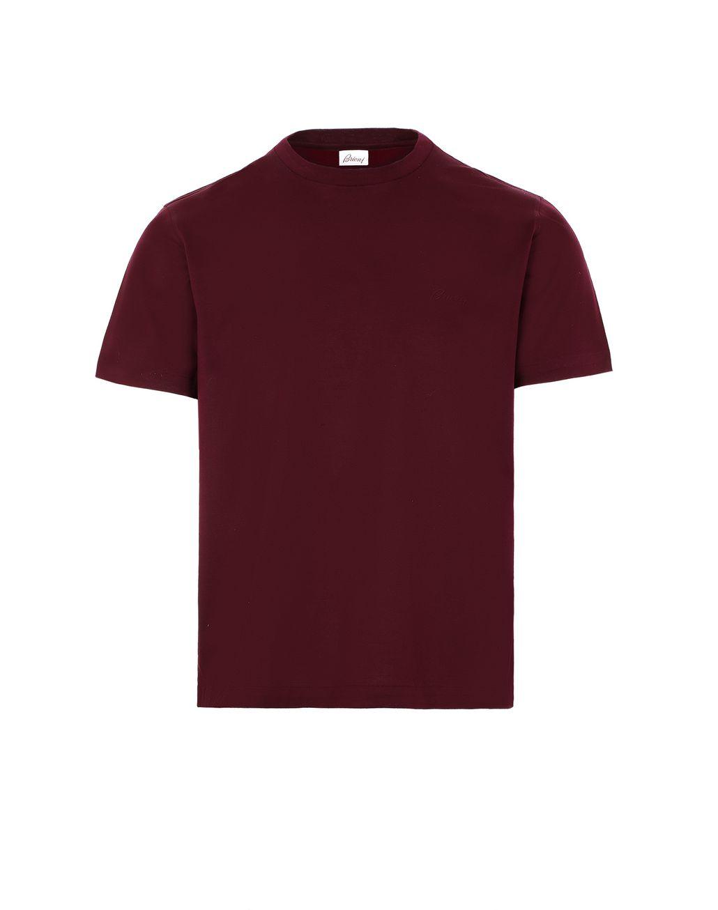 BRIONI Bordeaux Crewneck T-Shirt. T-Shirts & Polos Man f
