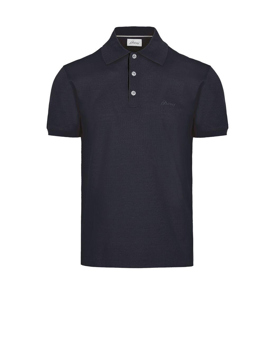 BRIONI Blue Polo T-Shirt T-Shirts & Polos Man f