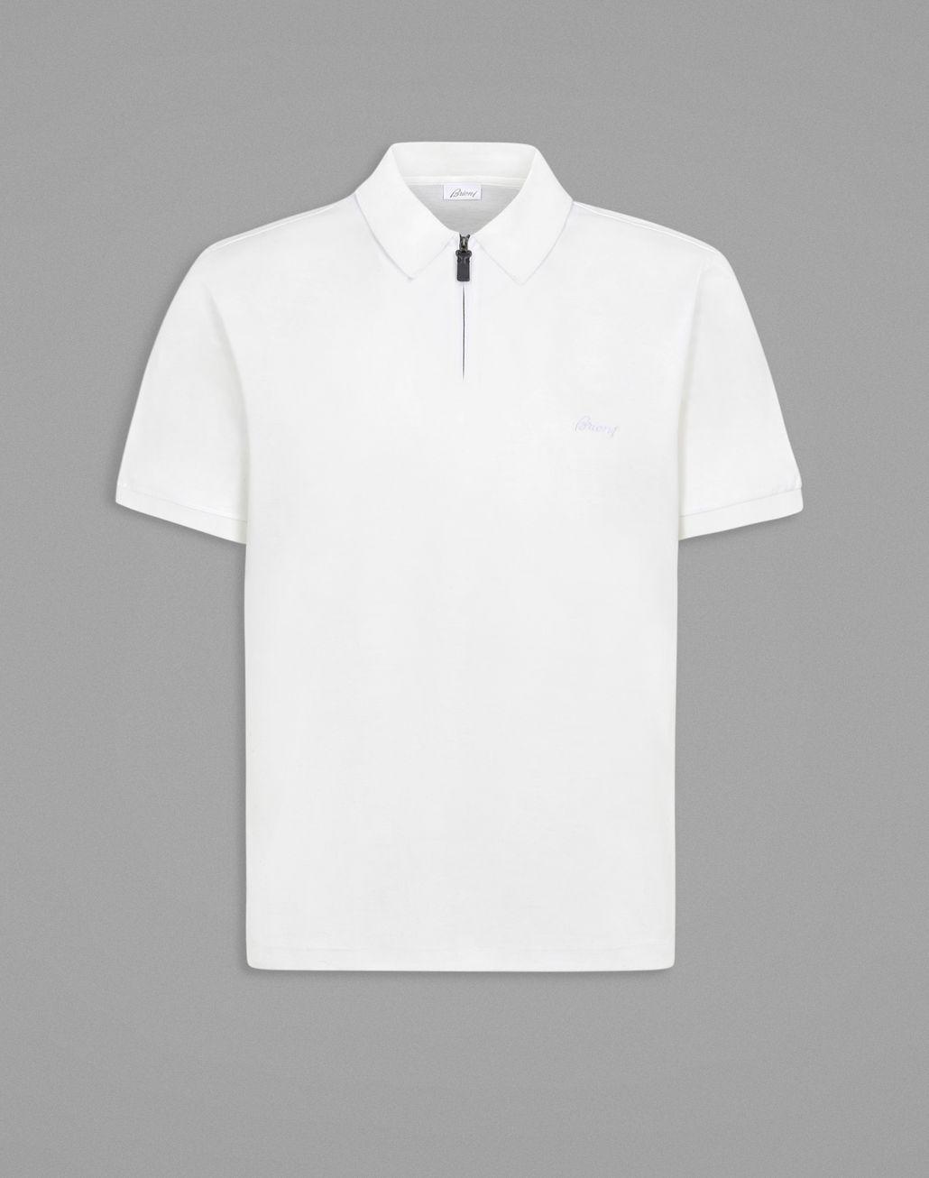 BRIONI White Polo T-Shirt. T-Shirts & Polos Man f