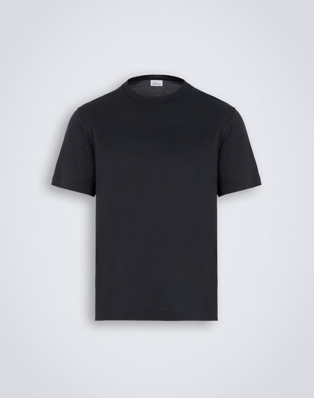 BRIONI Grey Crewneck T-Shirt. T-Shirts & Polos Man f