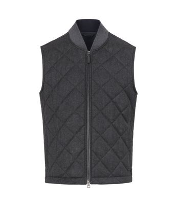 Gray Quilted Vest