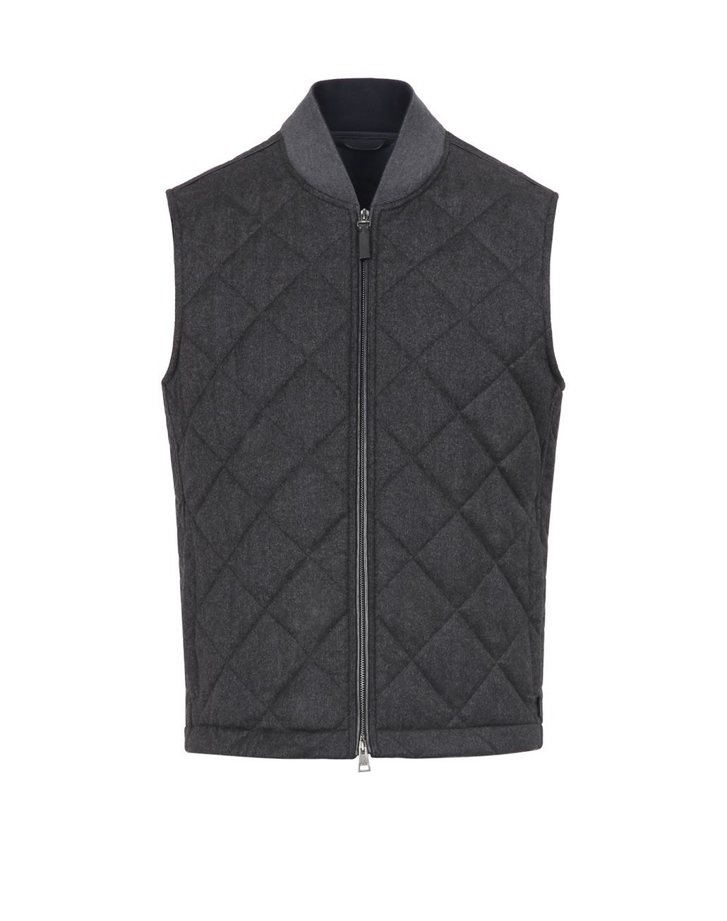 BRIONI Grey Quilted Vest Outerwear Man f