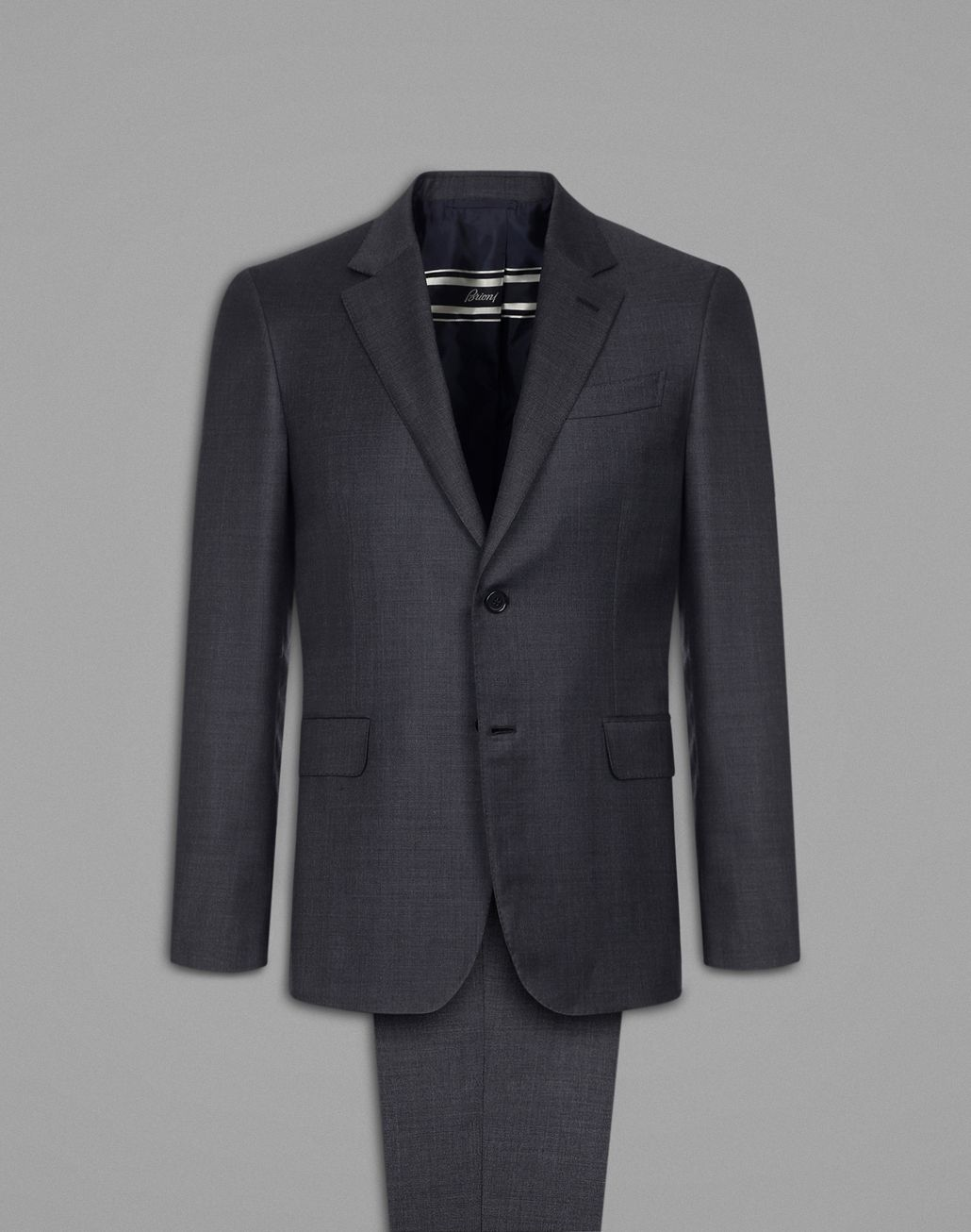 BRIONI Grey Primo Suit Suits & Jackets Man f