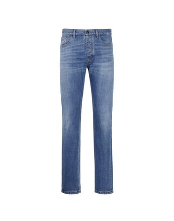 Blue Five-Pocket Jeans