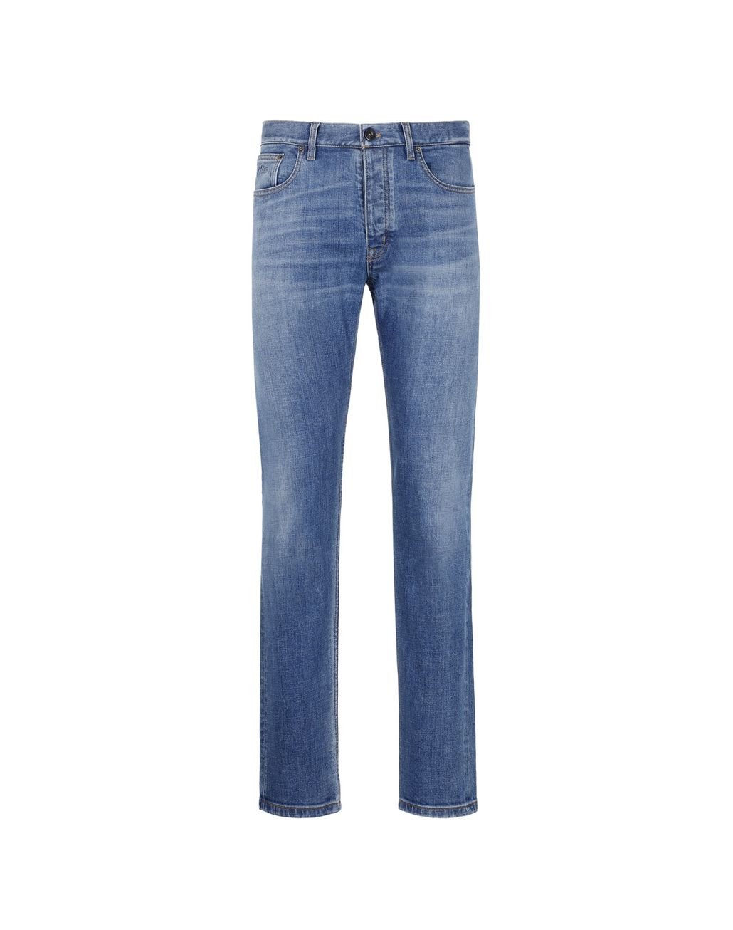 BRIONI Blue Five-Pocket Jeans Denim Man f