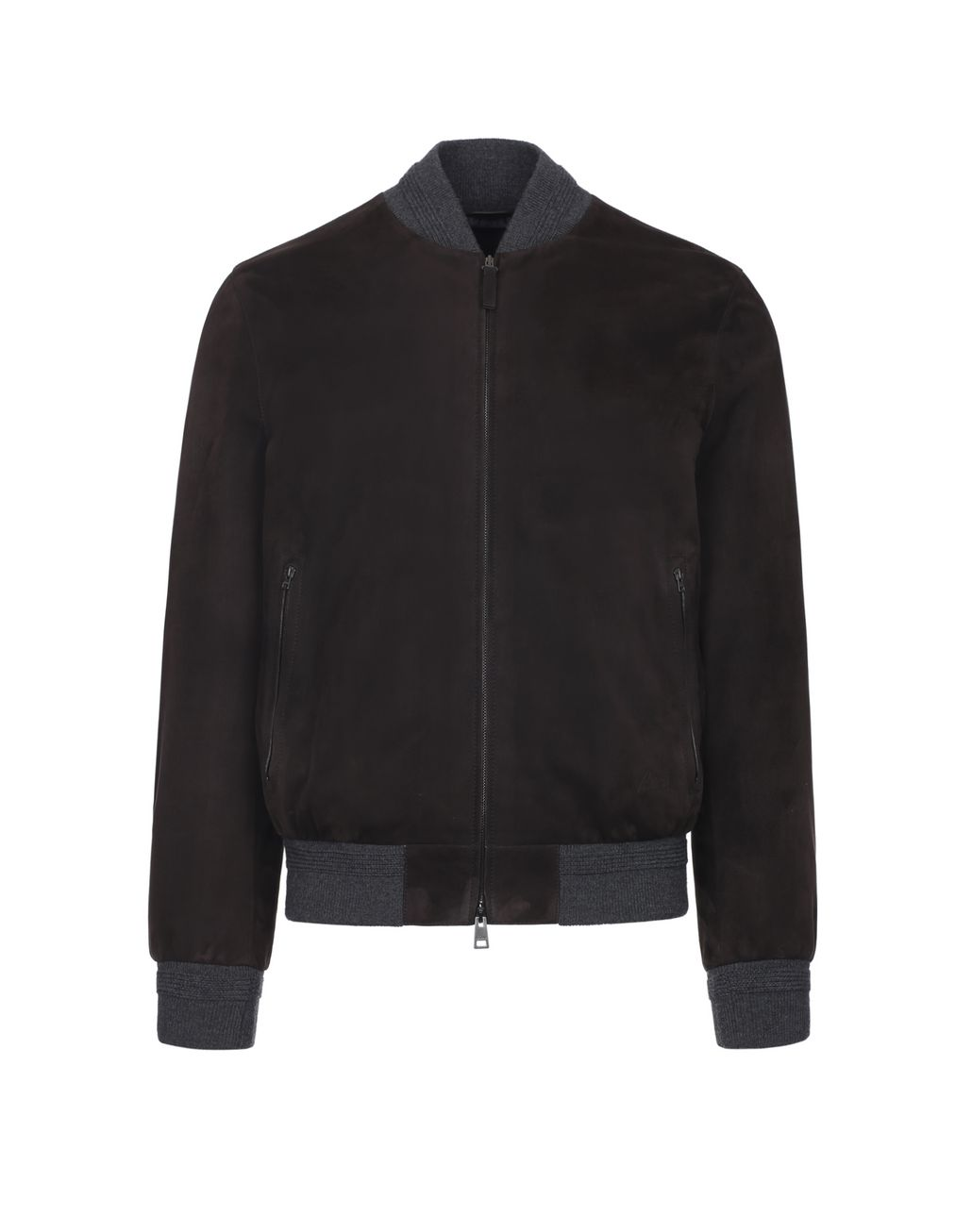 BRIONI Brown Bomber Outerwear Man f