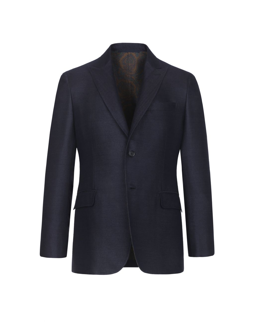 BRIONI Blue Jacket With Paisley Lining Suits & Jackets Man f
