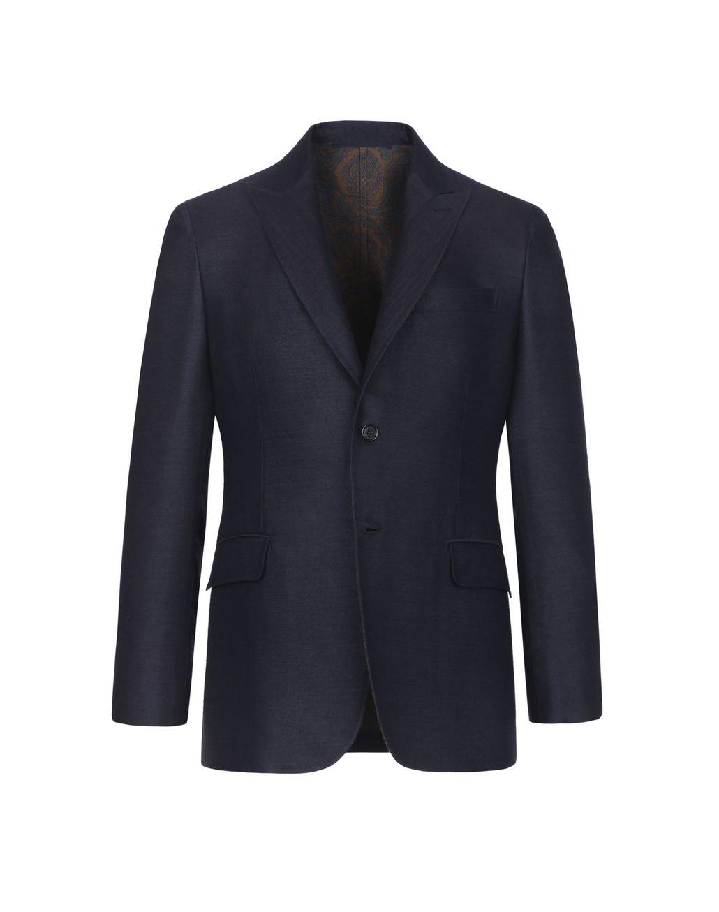BRIONI Синий Пиджак На Подкладке С Узором Пейсли Suits & Jackets Для Мужчин f