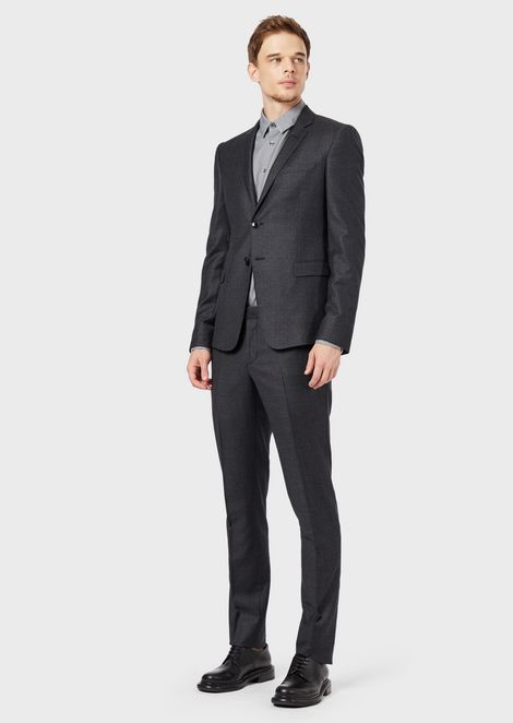 Slim-fit Dandy Collection suit in worsted virgin wool