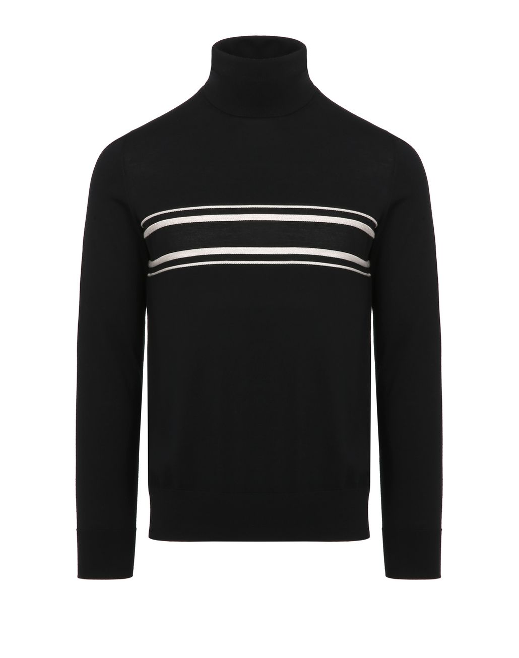 BRIONI Black Turtleneck Sweater Knitwear Man f
