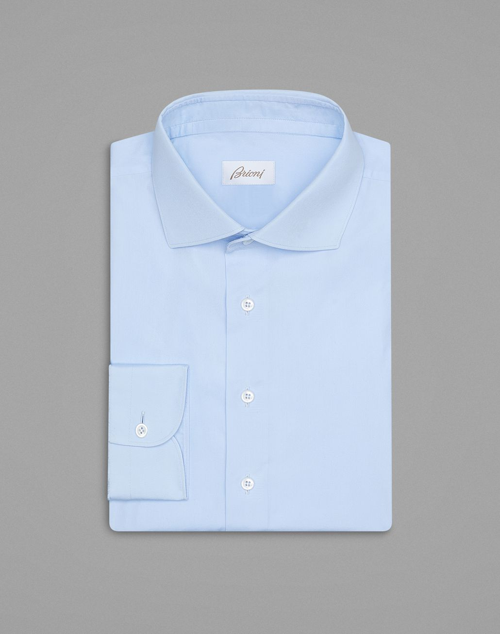 BRIONI  'Essential' Sky Blue Formal Shirt Formal shirt Man f