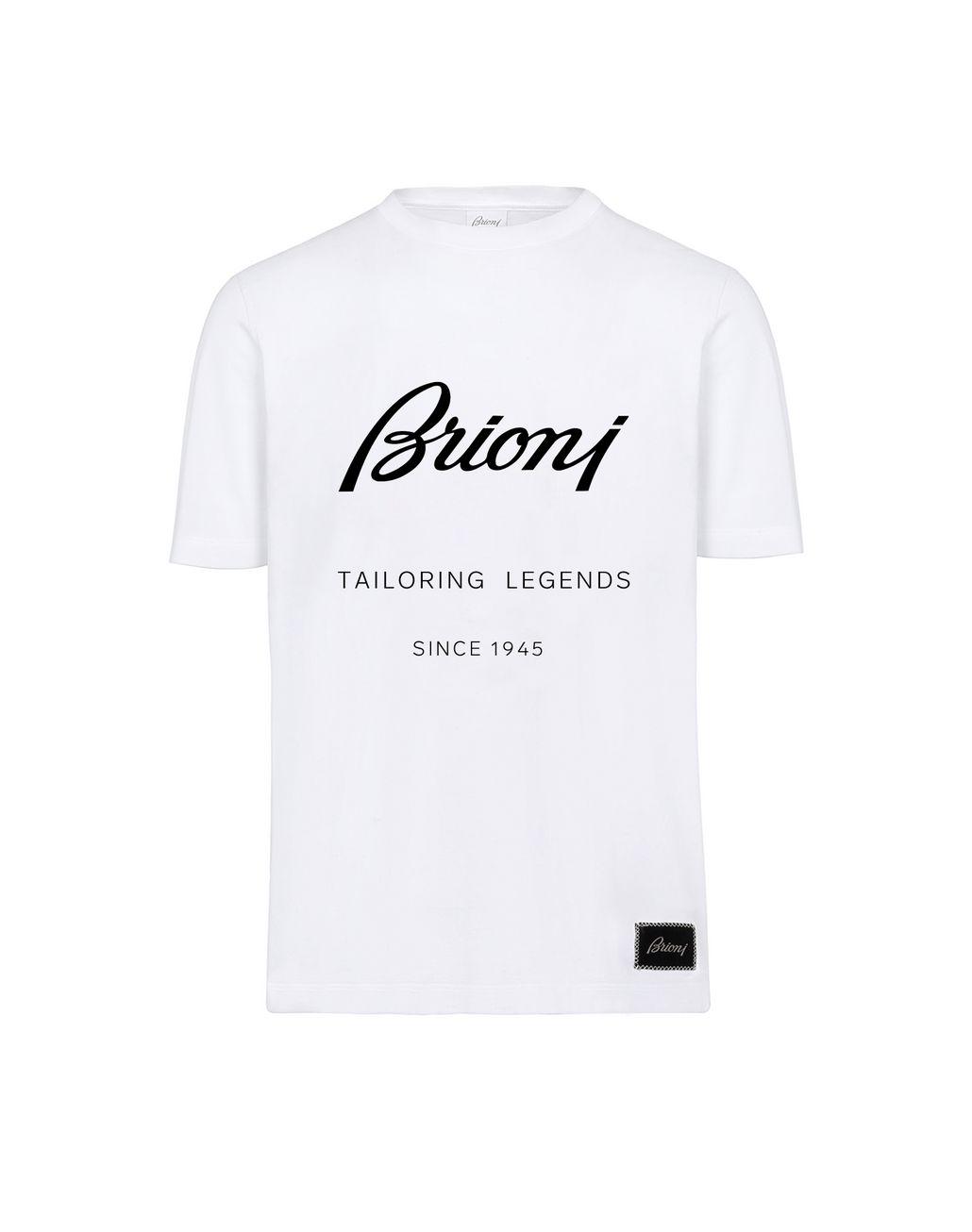 BRIONI T-Shirt Bianca con Stampa T-Shirt & Polo Uomo f