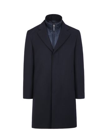 Blue Coat with Detachable Vest