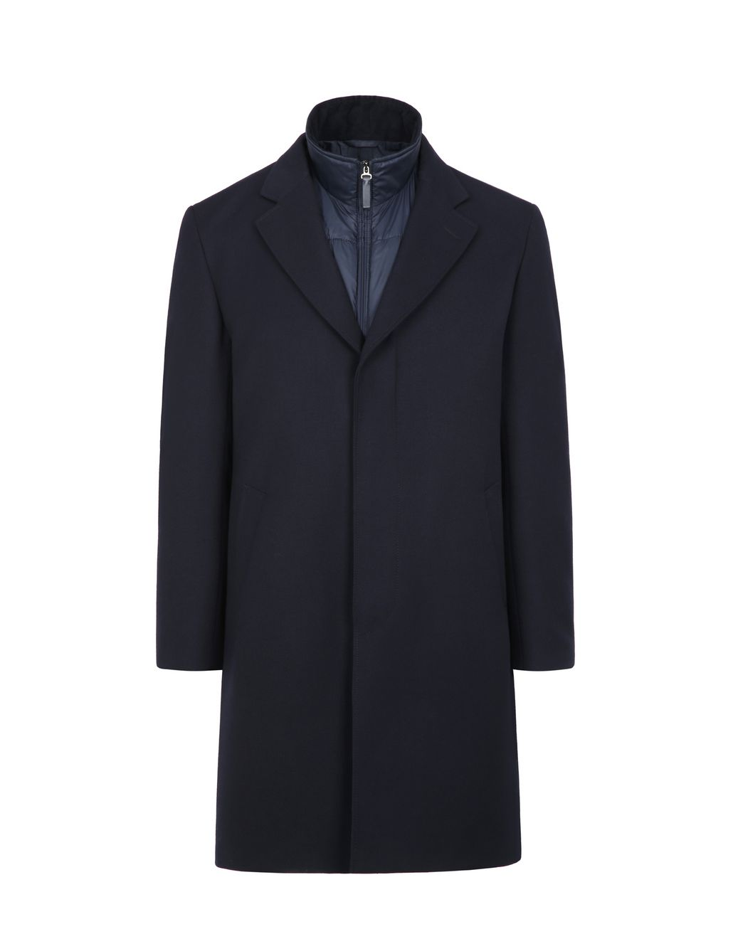 BRIONI Blue Coat with Detachable Vest Outerwear Man f