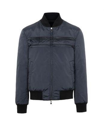 Синяя Двусторонняя Куртка-Бомбер