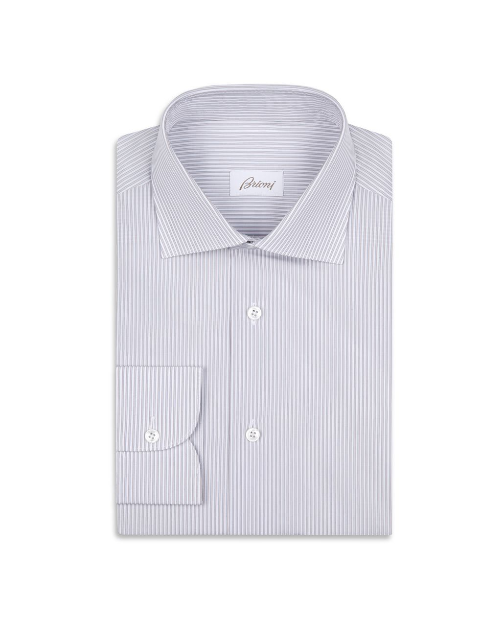 BRIONI Blue, White and Orange Formal Shirt Formal shirt Man f