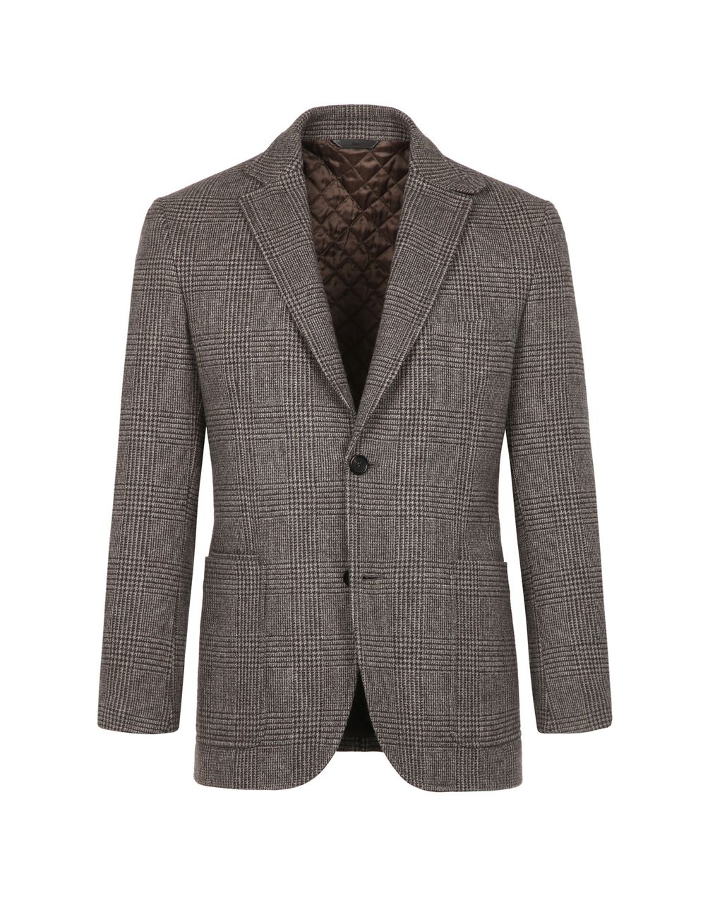 BRIONI Brown Prince of Wales Blazer Jackets Man f