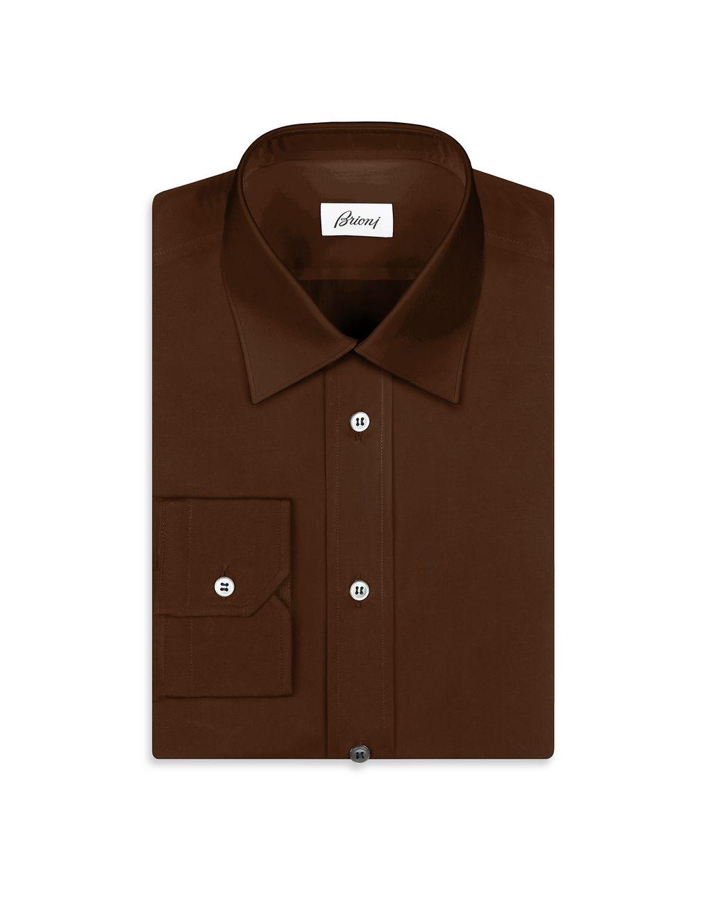 BRIONI Коричневая Рубашка Повседневная рубашка Для Мужчин f
