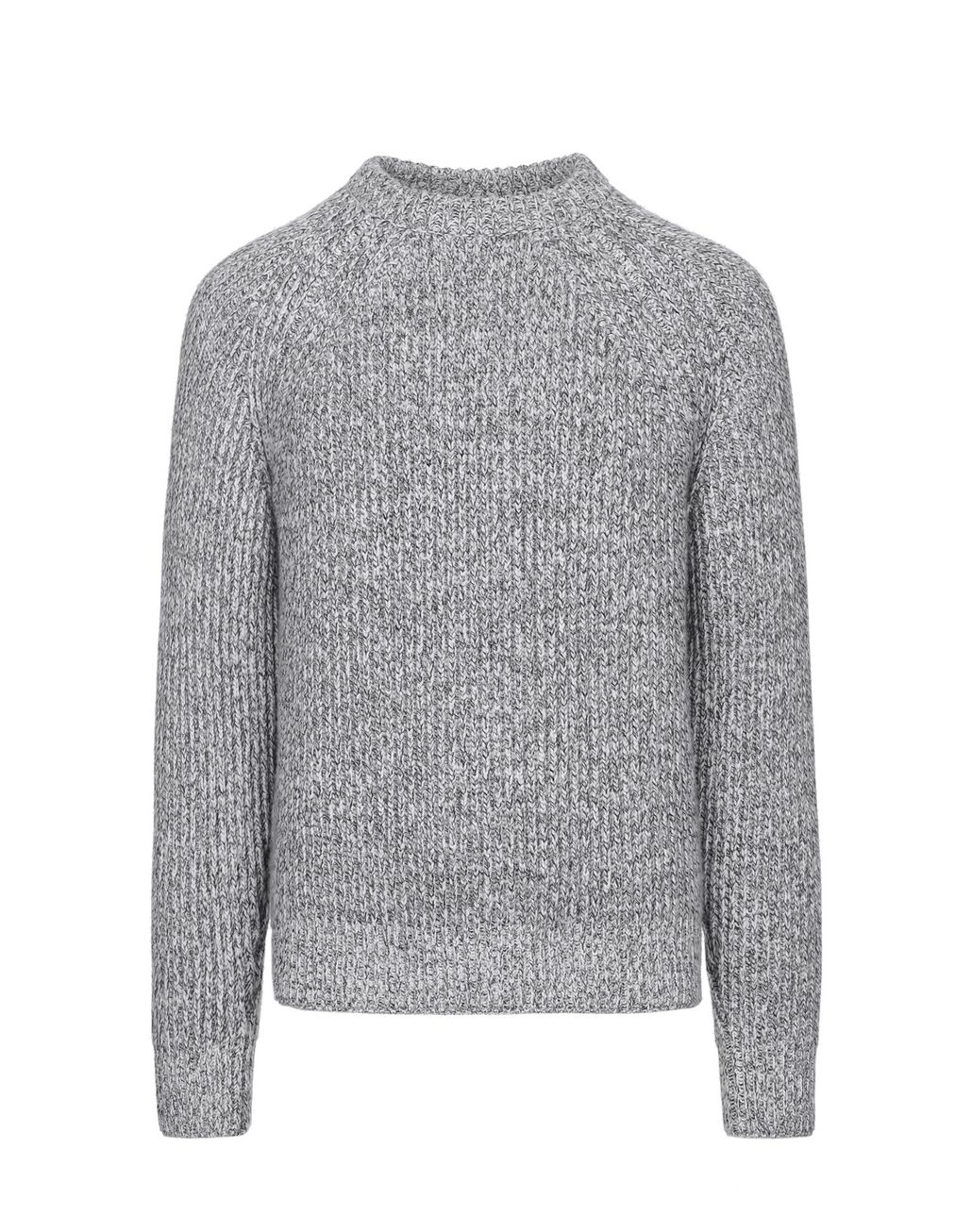 BRIONI Gray Mouliné Crew-Neck Sweater Knitwear Man f