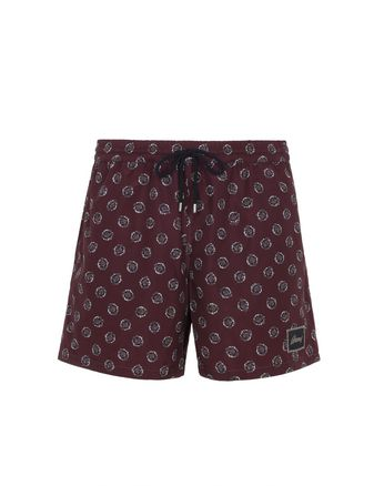 Short De Bain Bordeaux