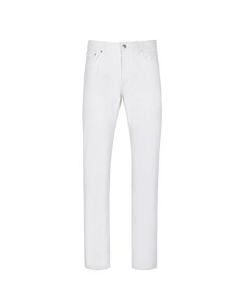 White Five Pocket Jeans