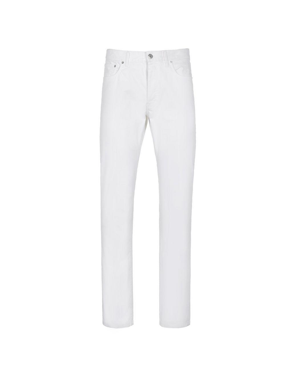 BRIONI White Five Pocket Jeans Denim Man f