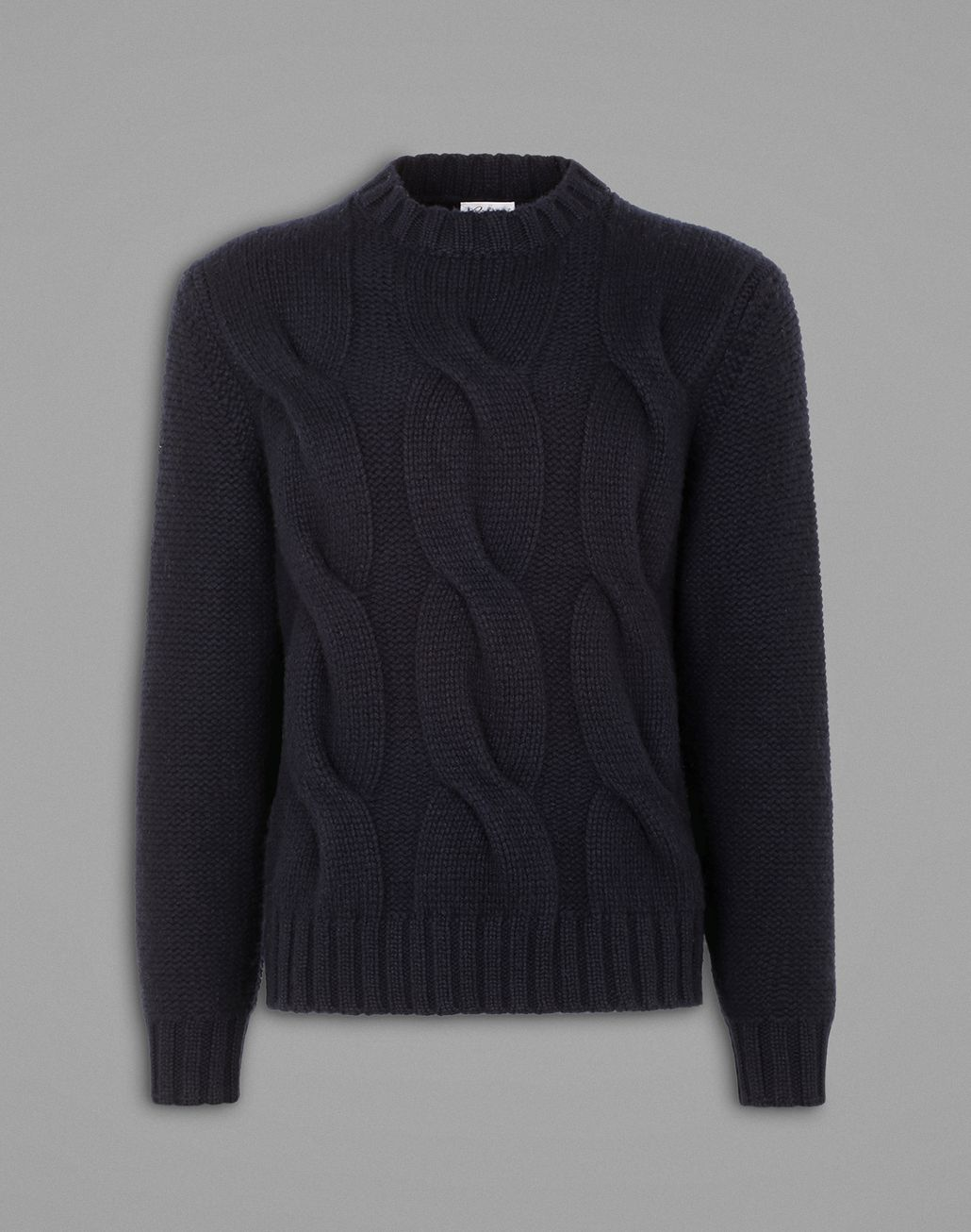 BRIONI Blue Cable Knit Sweater Knitwear Man f