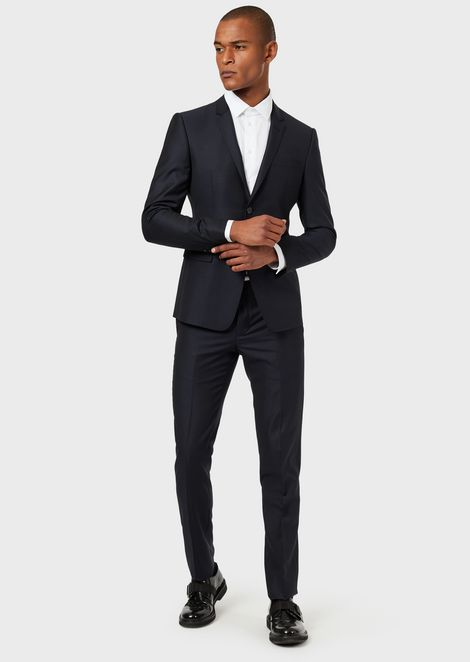 Single-breasted micro-textured wool suit