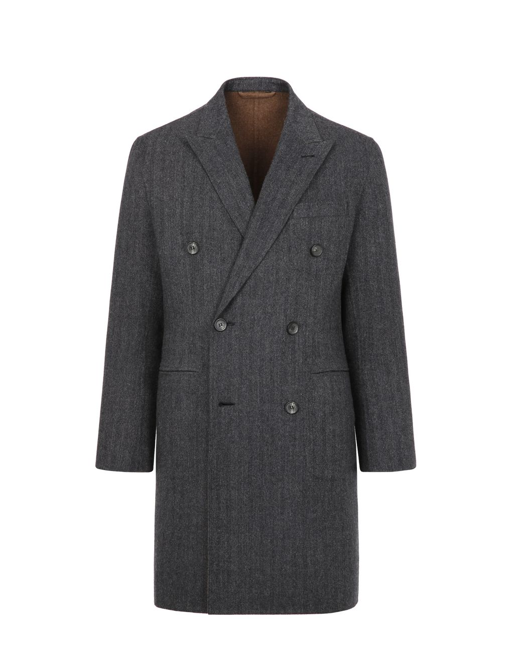 BRIONI Gray Overcoat Coats & Raincoats Man f