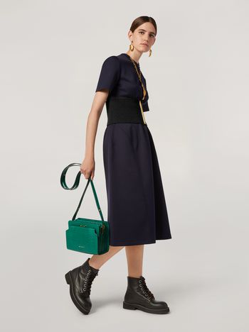 Marni Dress in double face jersey with slanted seam work Woman f