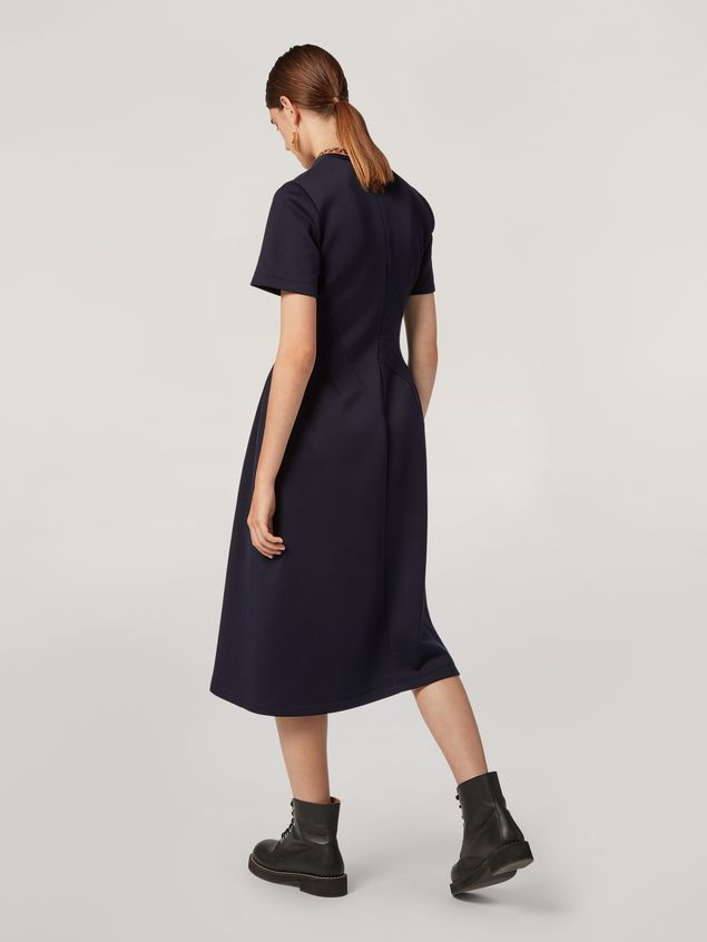 Marni Dress in double face jersey with slanted seam work Woman