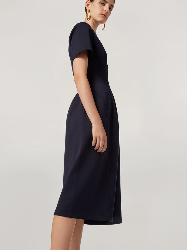 Marni Dress in double face jersey with slanted seam work Woman - 5