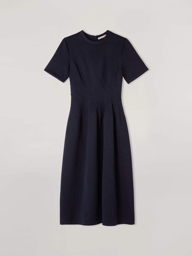 Marni Dress in double face jersey with slanted seam work Woman - 2