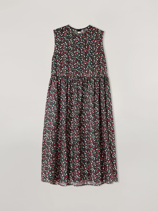 Marni Empire-cut dress in silk twill Liz print Woman - 2