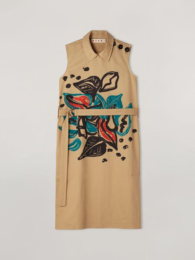 Marni Kleid aus Baumwoll-Leinen-Drillich mit Jungle Liz-Print und Gürtel Damen - 2