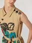 Marni Kleid aus Baumwoll-Leinen-Drillich mit Jungle Liz-Print und Gürtel Damen - 4