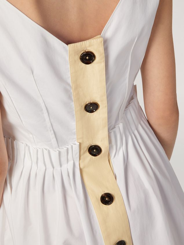 Marni Dress in cotton poplin with back buttoning Woman - 5
