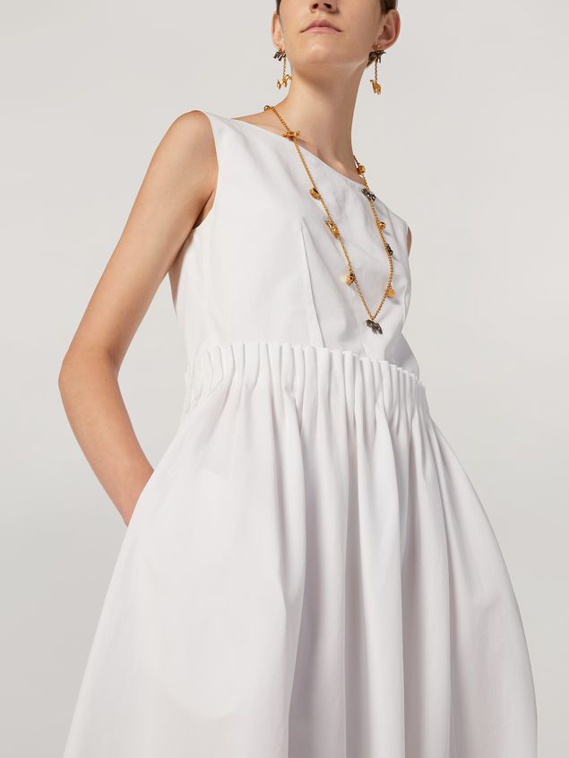 Marni Dress in cotton poplin with back buttoning Woman - 4