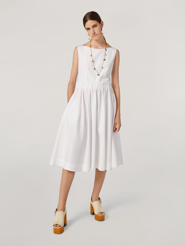 Marni Dress in cotton poplin with back buttoning Woman - 1