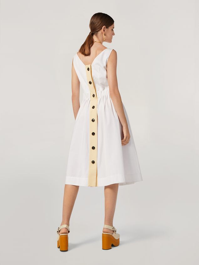 Marni Dress in cotton poplin with back buttoning Woman - 3