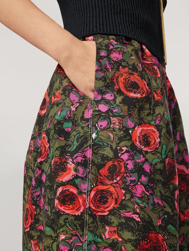 Marni Kleid aus Faille mit Amarcord-Print und Ballonärmeln Damen - 5