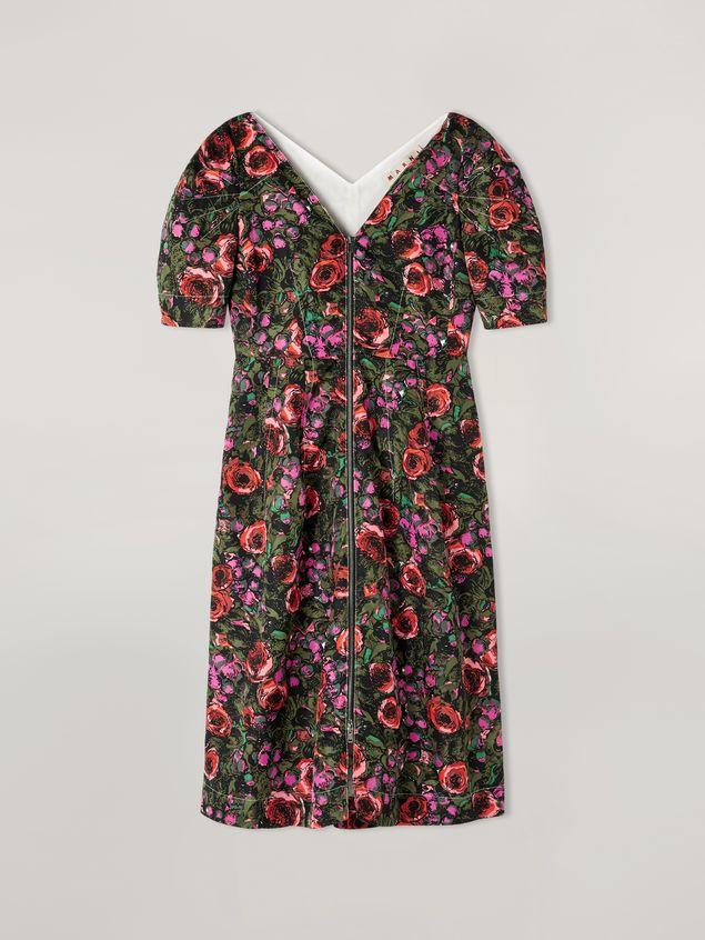 Marni Kleid aus Faille mit Amarcord-Print und Ballonärmeln Damen - 2