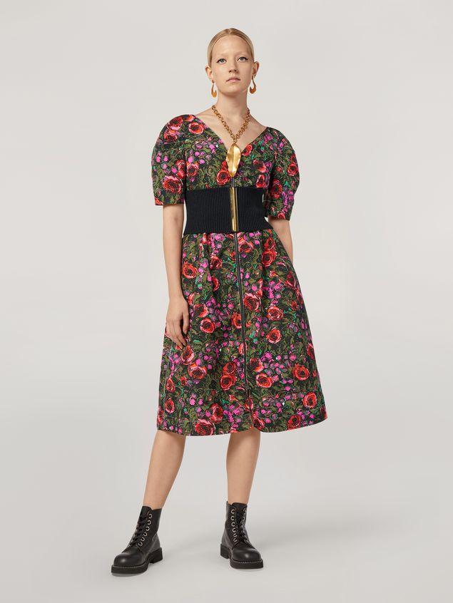 Marni Kleid aus Faille mit Amarcord-Print und Ballonärmeln Damen - 1