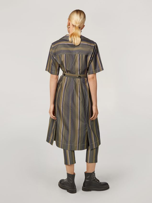 Marni Dress in yarn-dyed striped poplin with long belt Woman - 3